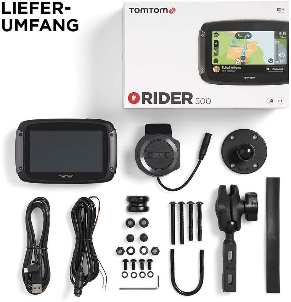 TomTom Rider 500 Lieferumfang
